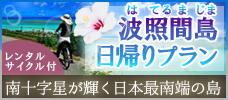 【羽田発】日本最南端の島・波照間島!<br> 石垣島からの往復乗船券+レンタサイクル付