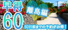 【離島】60日前までの予約がお得!