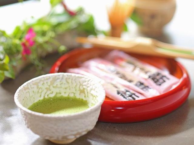 抹茶と和菓子でほっこり