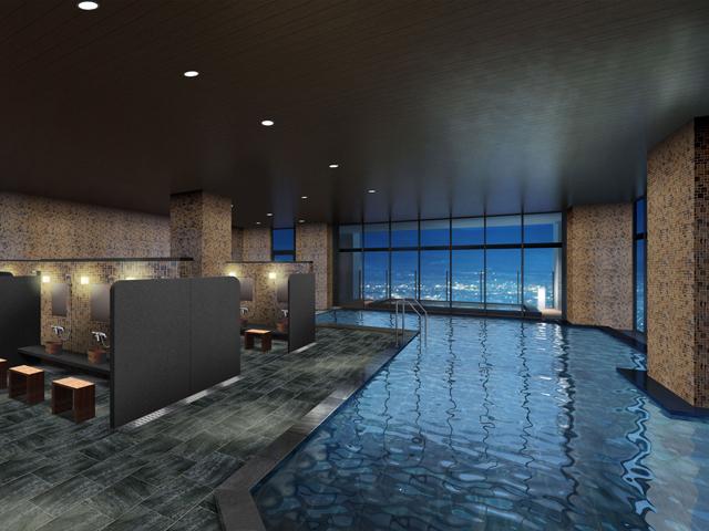 天然温泉展望大浴場