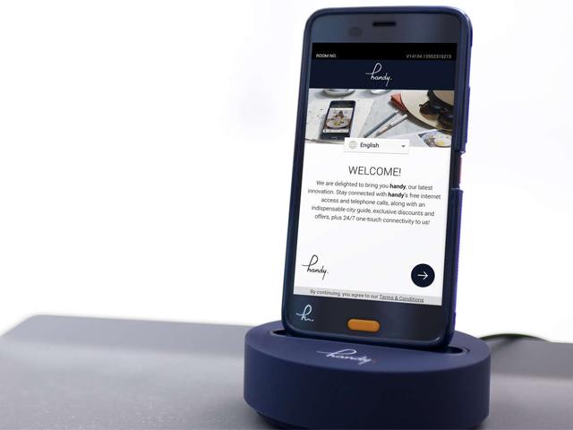 スマートフォン無料レンタルサービス「handy」
