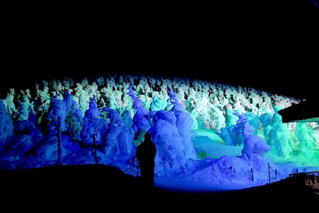 蔵王の樹氷ライトアップ